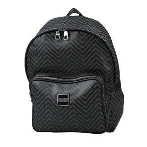 ⭕️ VERSACE JEANS Men's Backpack Black Leather